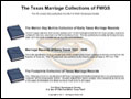 The Texas Marriage Collections of FWGS